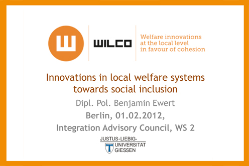 Local welfare systems